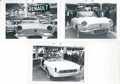 1960 Renault Floride Convertible at Auto Show Photo Lot wc6475-H293QO