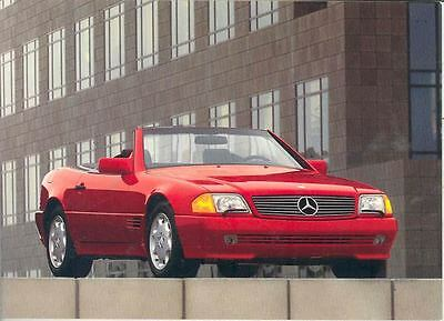 1992 Mercedes Benz 300SL 500SL 600SL Factory Postcard mx201-3ZWTUA