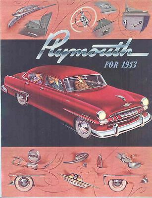 1953 Plymouth Brochure Poster mx891-A73XN9