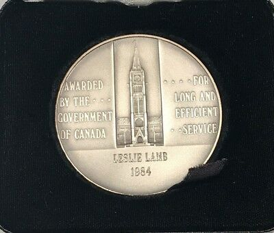 Service Silver Medal Awarded by Government of Canada 1978