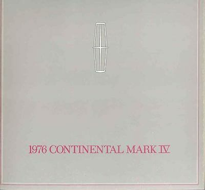 1976 Lincoln Continental Mark IV Brochure mx1550-35RPN4