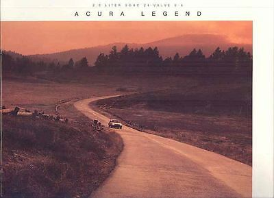 1986 Acura Legend Brochure mx1591-2QTG45