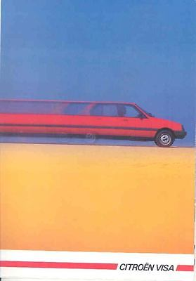 1985 Citroen Visa Brochure French mx1731-IZ9FOL