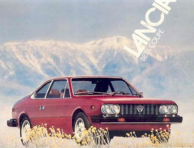 1975 1976 Lancia Beta Coupe Brochure mx2003-A974I5