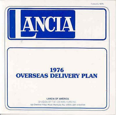 1976 Lancia Overseas Delivery Prices Brochure mx2028-LDYTTY