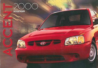 2000 Hyundai Accent Brochure mx2616-E9B5R3