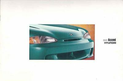 1995 Hyundai Accent Prestige Brochure mx2678-E8TN18