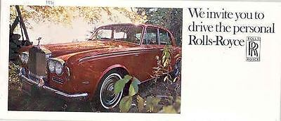 1970 Rolls Royce Silver Shadow Brochure mx2865-NLZ4ZI