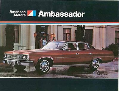 1974 AMC Ambassador Brochure Military mx2958-EUZX6V