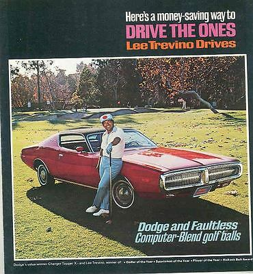 1972 Dodge Lee Trevino Brochure Charger Topper X mx2900-SJQ8ZJ