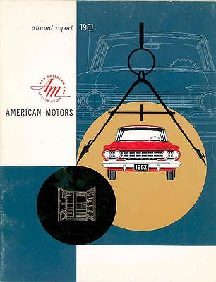 1961 AMC Annual Report Brochure 1962 Rambler mx3070-IWKC89