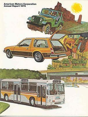 1976 AMC Annual Report Brochure 1977 Jeep Pacer Gremlin mx3182-HSMMI4