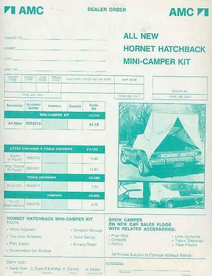 1973 AMC Hornet Hatchback Mini Camper Tent Brochure mx3386-GD1EN8
