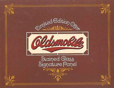 1977 Oldsmobile Stained Glass Showroom Panel Brochure mx3575-NLMXNF