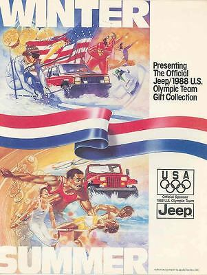 1988 Jeep US Olympic Team Gift Brochure mx3661-ASMCHP
