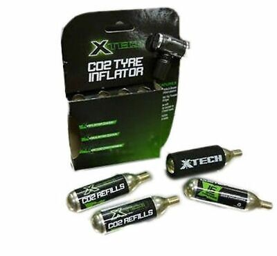 XTech Co2 Boost Bike Tyre Inflator Kit - 4 x 16G Cartridges Included