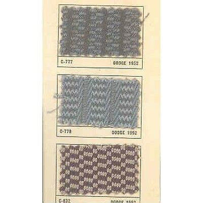 1952 Dodge Cloth Factory Upholstery Samples y304-SATSDP