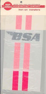 1960s 1970s BSA Motorcycle Hap Jones T Shirt Transfer ms61-IOV9N3