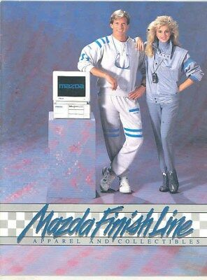 1986 Mazda Finish Line Apparel and Collectibles Brochure mx4369-8O9CT5