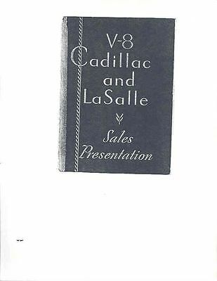 1932 Cadillac V8 & LaSalle Salesman's Data Book mx471-WSWFOH