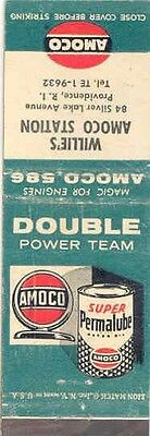 1940's 1950's Matchbook Cover Amoco Permalube Oil mb1072-KY1AUM