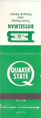 1940's 1950's Matchbook Cover Quaker State Gas & Oil mb1202-BFK2DF