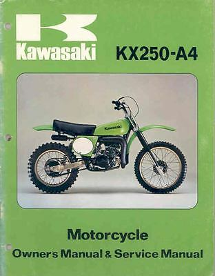 1978 Kawasaki KX250 A4 Owner's and Repair Manual mo380-IZ94LR
