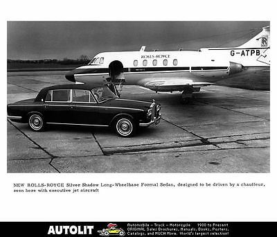 1970 Rolls Royce Silver Shadow & Airplane Automobile Photo Poster zad8383-LP8GPT