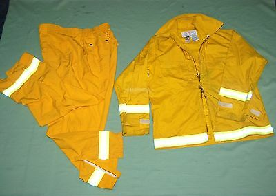FIREFIGHTER Wildland/Brush fire JACKET & PANTS w/Reflector Stripes