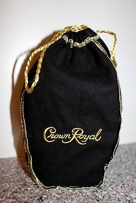 Crown Royal Black Bag Gold Draw String 1 Liter Free Fast Shipng Smoke Free!