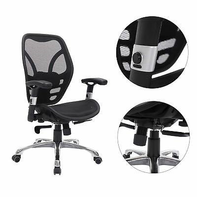 Deluxe Mesh Ergonomic Office Chair Seat Desk Computer Task Chairs Indoor Black