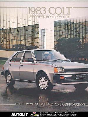 1983 Mitsubishi Colt Brochure Imported for Plymouth mx5192-SG7UVE