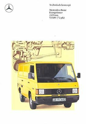1989 Mercedes Benz Truck Sales Brochure Dutch t5835-P3IACR