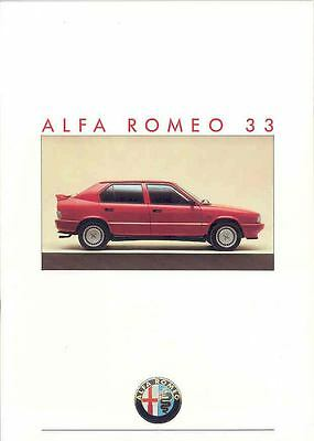 1990 Alfa Romeo 33 Sales Brochure German x230-Q8KRSA