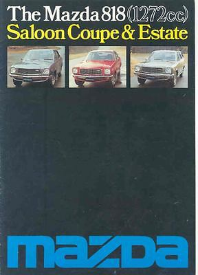 1977 Mazda 818 Saloon Coupe Estate Sales Brochure x5071-B77AWU