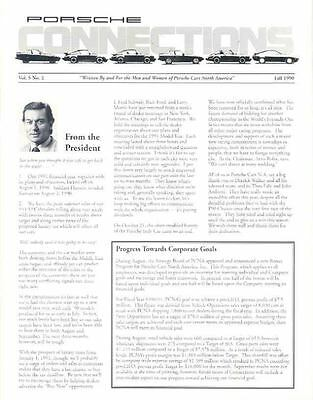 Fall 1990 Porsche NA Connections Newsletter x6060-BVWXIE
