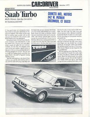 1978 Saab Turbo Sales Brochure x6345-FF56VV