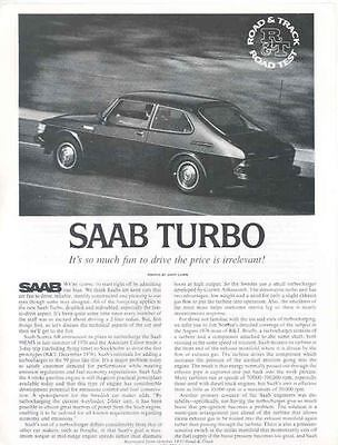 1978 Saab Turbo Sales Brochure x6346-UFYO5D