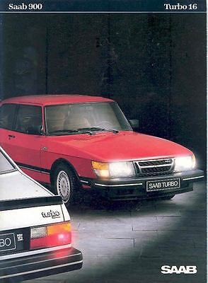 1984 Saab 900 Turbo 16 Sales Brochure Dutch x6474-MPP1FS
