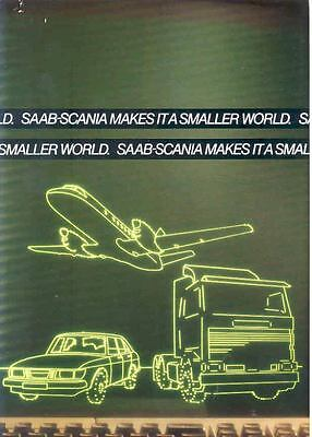 1985 Saab Scania Corporate Promotional Brochure x6487-LNAR5X