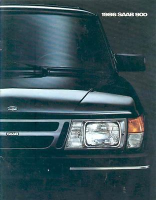 1986 Saab 900 & Turbo Sales Brochure x6525-TREANO