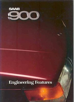 1988 Saab 900 & Turbo Engineering Features Brochure x6594-W41WOS