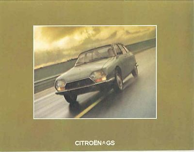 1974 Citroen GS Sales Brochure French x7218-EEKNFW