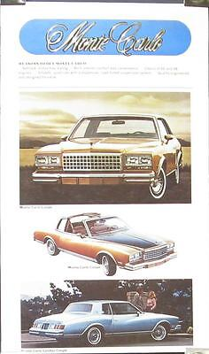 1980 Chevrolet Monte Carlo Showroom Poster x7702-HQPAF3
