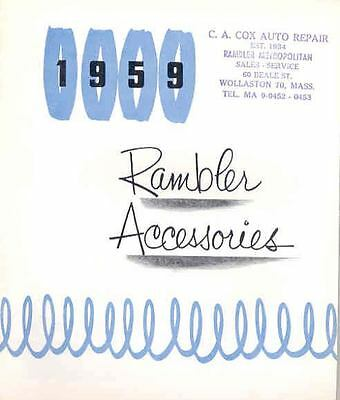 1959 AMC Rambler Accessories Brochure 24109-4EPAWF