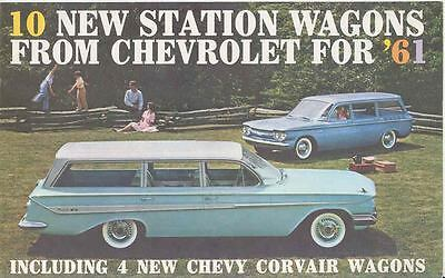 1961 Chevrolet Station Wagon Mailer Brochure Corvair 26808-GBXD7G