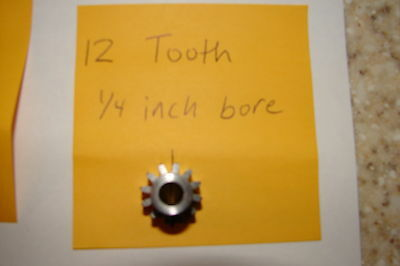 12 Tooth 1/4 inch bore Pinion gear