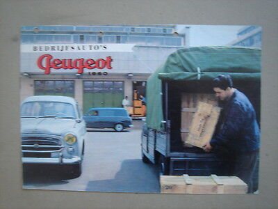PEUGEOT   Commercial vehicles  brochure/Prospekt  1960.