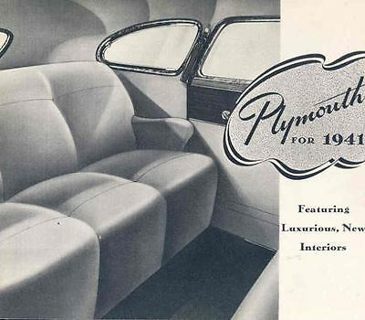 1941 Plymouth Special Deluxe Brochure 51051-IGXQGR
