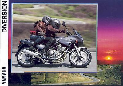 1994 Yamaha Diversion Motorcycle Brochure Germany 55276-GUWIT1